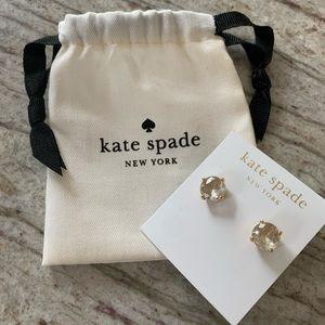 Kate Spade Clear Stud Earrings
